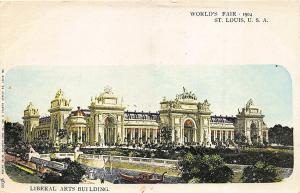 1904 St Louis MO World's Fair Liberal Arts Building Signed A. Selige Postcard