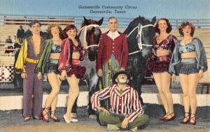 Gainesville Texas Community Circus Ladies Antique Postcard K59939
