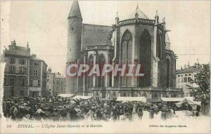 Old Postcard Epinal Eglise Saint Maurice and the Power