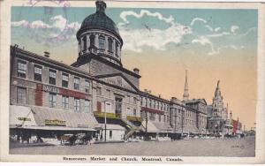 Bonsecours Market and Church, Montreal, Quebec, Canada, PU-1922