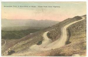 Serpentine Trail, Pikes Peak Auto Hwy, Colorado, 1925