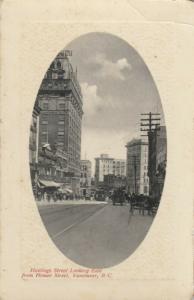 VANCOUVER , B.C., Canada, 1900-10s ; Hastings Street , Looking East