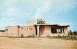 Ames Iowa Solar Inn Street View Vintage Postcard K88194