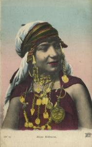 Native Young Bedouine Girl, Necklace Jewelry (1918) ND 121 TC