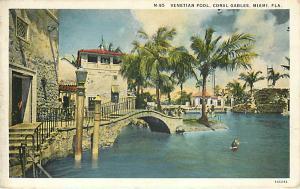 Venetian Pool Coral Gables Miami Florida FL White Border