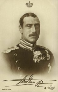 King Christian X of Denmark in Uniform with Medals (1910s) Postcard