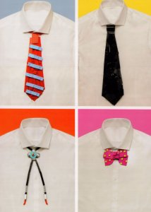Childrens School Uniform Shirt & Bow Tie Lego Toy Display Postcard