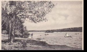 New York ST. Joseph,  Lake ST. Dominic and ST.Peters Island in Distance  Albe...