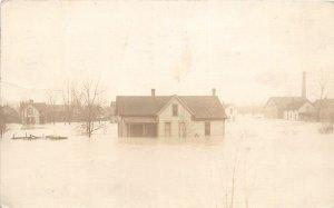 G18/ Fort Wayne Indiana RPPC Postcard 1913 Flood Disaster Homes