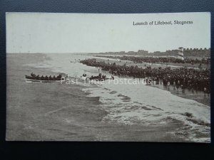 Lincolnshire SKEGNESS Launch of the Lifeboat c1913 Postcard by Valentine