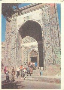 Uzbekistan Samarkand shahi zinda ensemble entrance portal architecture Postcard