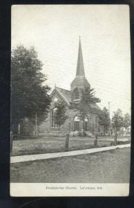 LAGRANGE INDIANA PRESBYTERIAN CHURCH VINTAGE POSTCARD 1910 SAC CITY IOWA