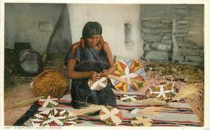 C-1910 Native American Indian Hopi Moki Basket Phostint Detroit Publishing 852