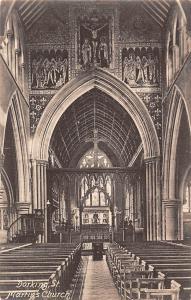 Dorking St. Martin's Church Interior view Eglise 1909