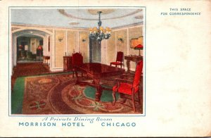 Illinois Chicago Morrison Hotel Private Dining Room