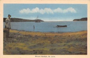 E58/ Foreign Postcard Carribean c1910 St Lucia Micoud Harbour Boats