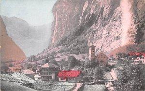 Lauterbrunner and the Straubach Falls Switzerland Unused