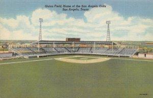 USA Linen Postcard, 1952 Guinn Field Home of The San Angelo Colts, Texas BA7