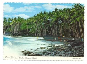 Black Sand Beach Kalapana Hawaii 1978 Postcards 4X6