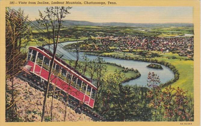 Tennessee Chattanooga Vista From Incline Lookout Mountain Curteich