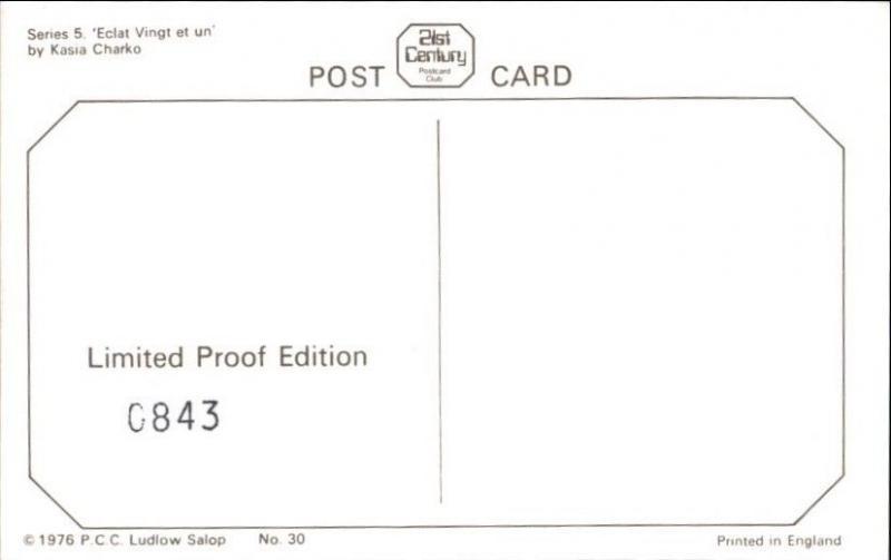 Sexy Pinup Woman 70s Glamour Standard Size Limited Kasia Charko Postcard #2