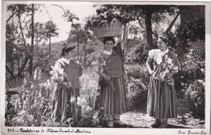 RP: MADEIRA , Portugal , PU-1954 ; Flower sellers