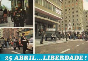 Liberdate 25th April Abril Street Parade Portugal Postcard