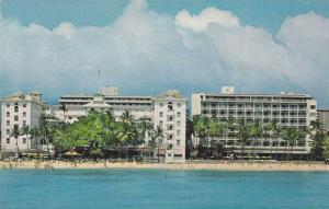 Exterior,  Moana Hotel, on Waikiki Beach,  Waikiki,  Hawaii,  40-60s