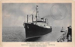 S.S. City of Baltimore,   Balitimore Mail Steamship Co.