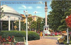 Hemming Park Downtown Jacksonville Florida Vintage Postcard Standard View Card