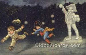 Artist Columbo New Years Eve Postcard Post Cards Old Vintage Antique  Artist ...