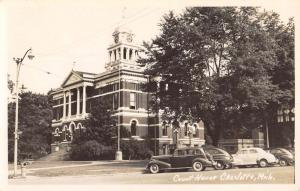 Charlotte Michigan Court House Real Photo Antique Postcard K61985