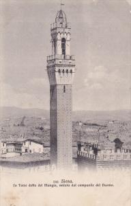 Seina, La Torre detta del Mangia, veduta dal campanile del Duomo, Toscana, It...