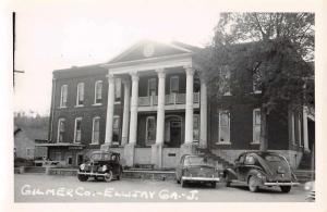 Ellijay Georgia Gilmer Court House Real Photo Antique Postcard K73555