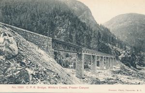 CPR Canadian Paciric Railroad Bridge - Fraser Canyon BC British Columbia Canada