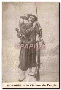 Old Postcard Army Mondrel The bugle of the people