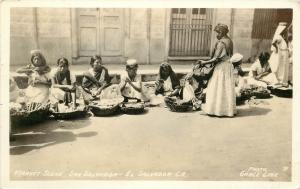 c1933 RPPC Postcard; Market Scene, San Salvador, El Salvador C.A., Grace Line 31