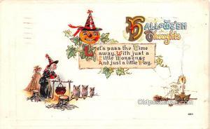 Halloween Post Card Old Vintage Antique 1923