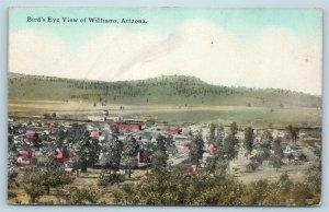 Postcard AZ Williams Bird's Eye View of City c1920s Fred Harvey W1