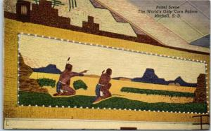 Mitchell, SD Postcard Panel Scene, World's Only Corn Palace Linen Dated 1966