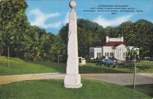Surrender Monument and Administration Building National Military Park Vicksbu...