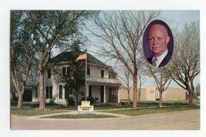 Postcard Eisenhower Home and Museum Abilene Kansas Standard View Card