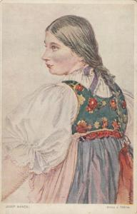 SILESIA , Austria, 00-10s ; Girl from Tesin County in Slovak Costume