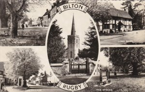 RP: BILTON ,RUGBY, Warwickshire, England, 1940-50s 5-view postcard
