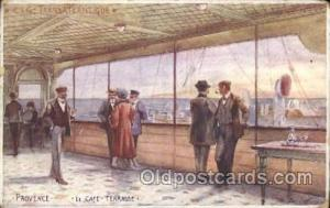Provence, Le Caf? Terrasse Ship Ships, Interiors, Postcard Postcards  Provenc...