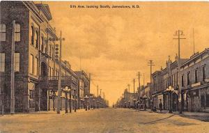 Jamestown ND Street View Store Fronts, Published by Bloom Bros. Postcard