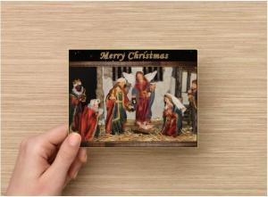 Handmade Christmas Postcard Set of 6, Fine Art Photograph Nativity Scene