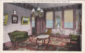 Illinois Galena The Parlor In Home Of General U S Grant