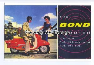 ad0859 - Bond Scooter P.3 & P.4 - Vintage Scooter - Modern Advert Postcard