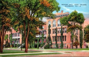 Illinois Galesburg Whiting Hall Knox College 1937